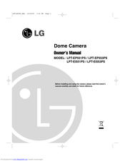 lg LPT-EI551PS Owner's Manual