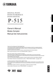 Yamaha P-515 Owner's Manual