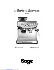 Sage Barista Express BES875 Quick Manual