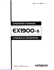 Hitachi EX1900-5 Operator's Manual