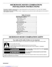 Maytag Mmv5208ws 2 0 Cu Ft Combination Range Hood Microwave Manuals
