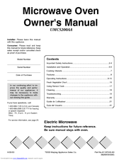 Maytag 5200 Series Owner's Manual