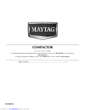 Maytag W10190314A Use And Care Manual