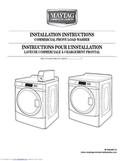 Maytag MHN30PDBWW Installation Instructions Manual