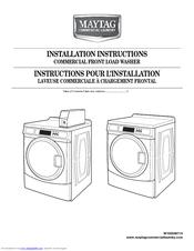 Maytag MHN30PDBWW Installation Instructions Manual