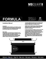 Mb Quart FORMULA FX1.600 Manuals