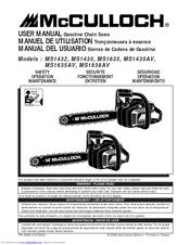 mcculloch ms1838av manuals rh manualslib com McCulloch 3200 Chainsaw Parts Diagram McCulloch Timber Bear Chainsaw
