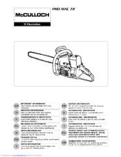 mcculloch corporation user guide best setting instruction guide u2022 rh ourk9 co Steam Cleaner McCulloch Mc1385 McCulloch Mac 3200 Chainsaw Manual