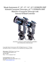 Meade LX200GPS-SMT Technical Manual