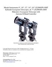 Meade LX200GPS-SMT Technical Manual