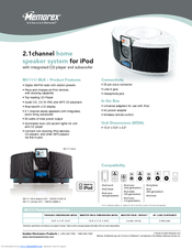 memorex mi1111 blk home audio system manuals rh manualslib com Home Theater Seats Theater Words in Manual