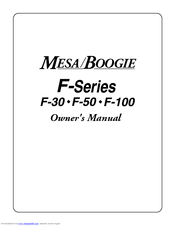 mesa boogie f 30 manuals rh manualslib com Mesa Boogie Studio 22 Mesa Boogie Dual Rectifier