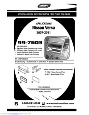 metra electronics 99 7603 manuals rh manualslib com Pac Electronics Metra Electronics Catalog