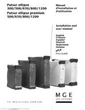 mge ups systems pulsar ellipse premium 800 manuals rh manualslib com Example User Guide User Guide Cover