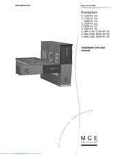 Mge Ups Systems Evolution S EXB 2500 Manuals