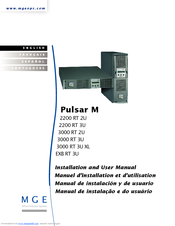 mge ups systems pulsar m 2200 rt 2u manuals rh manualslib com Instruction Manual for a Bed Blip Scale User's Guide