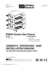 Middleby Marshall Ps640 Series Manuals