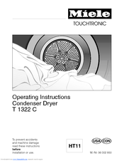 Miele T 1322C CONDENSER DRYER Operating Instructions Manual