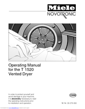 Miele Novotronic T 1520 Operating Manual