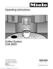 miele cva 2660 manuals rh manualslib com miele service manual download g800 pdf zip miele cva4075 service manual