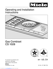 Miele CS 1028 Operating And Installation Instructions