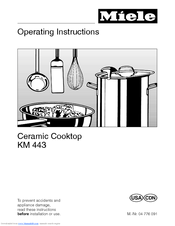 Miele KM 443 Operating Instructions Manual