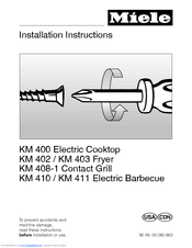 Miele KM 403 Installation Instructions Manual