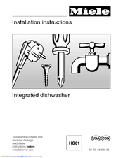 Miele 05 620 661 Installation Instructions Manual