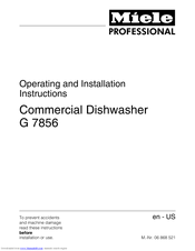 Miele 06 868 521 Operating And Installation Instructions