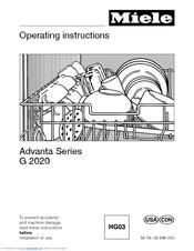 miele advanta series g 2020 operating instructions manual pdf download rh manualslib com