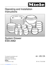 Miele ESS 2062 Operating And Installation Instructions