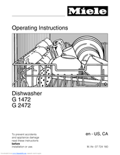 MIELE G 1472 OPERATING INSTRUCTIONS MANUAL Pdf Download