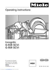 miele incognito dishwasher installation manual
