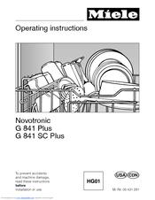 miele novotronic g 841 plus operating instructions manual pdf download rh manualslib com Miele Dishwasher Parts Miele Dishwasher Replacement Parts