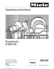 Operating instructions touchtronic premier plus miele. Ca.