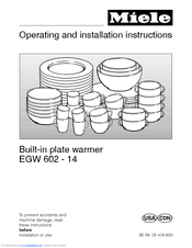 Miele EGW 601-14 Operating And Installation Instructions