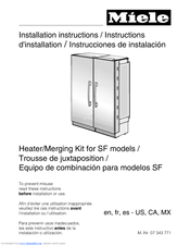 Miele F 1901 sf Installation Instructions Manual
