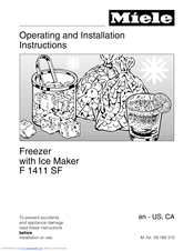 Miele F 1901 sf Operating And Installation Instructions