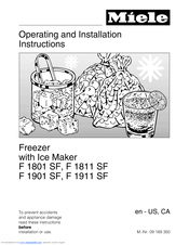 Miele F 1801 SF Operating And Installation Instructions