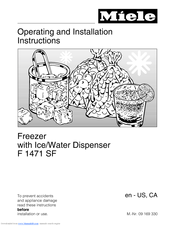 Miele F 1471 SF Operating And Installation Manual