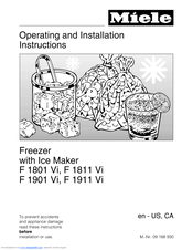 Miele Independence F1911Vi Operating And Installation Manual