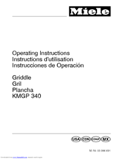 Miele KMGP 340 Operating Instructions Manual
