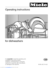 Miele g 6xx operating instructions manual pdf download.