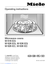 Miele M636ec Operating Instructions Manual 44 Pages Microwave Oven