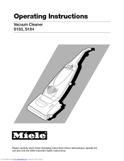 miele s183 operating instructions manual pdf download rh manualslib com miele vacuum user manual Miele Canister Vacuum Comparison Chart