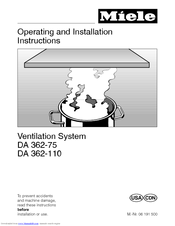 miele da 362 110 manuals rh manualslib com Customer Service Books Repair Manuals