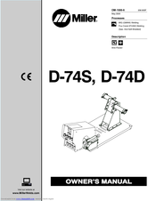 miller electric d 74s manuals