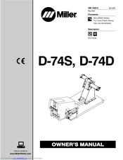 miller electric d 74s manuals