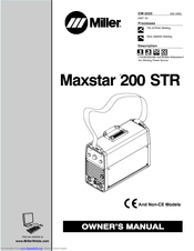 Miller Electric Maxstar 200 STR Owner's Manual (56 pages)