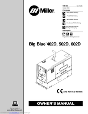 MILLER ELECTRIC BIG BLUE 402D OWNER'S MANUAL Pdf Download. on